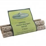 Futterfreund Dental Hütten-Stangerl - Natur 5 Stück