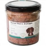 Hundegenuss Rind mit Grünlippmuscheln 300g im Glas