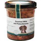 Hundegenuss Wild mit Preiselbeeren 300g im Glas