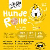 Purbello HundeRolle Huhn mit Möhren und Erbsen