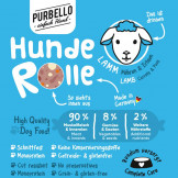 Purbello HundeRolle Lamm mit Möhren und Erbsen