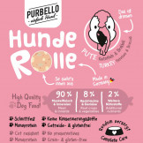 Purbello HundeRolle Pute mit Brokkoli und Kartoffeln