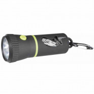 LED Lampe mit Beutelspender 17 cm, schwarz