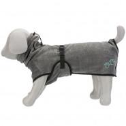 Bademantel für Hunde, Frottee, grau