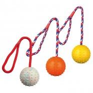 Ball am Seil, Naturgummi, 7 cm/30 cm