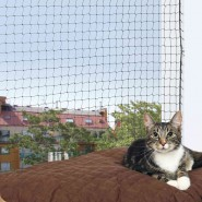 Katzen Schutznetz, 4 x 3 m, schwarz
