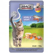 Macs Cat Pouch Hering + Shrimps 100g