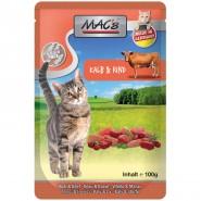 Macs Cat Pouch Kalb + Rind 100g
