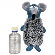 Ratte mit Flasche, Plüsch/Stoff, 21 cm