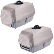 Abdeckung für Transportbox Capri 1, 45 x 27 x 30 cm, silber