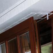 Schutzgitter für Fenster, oben/ unten, 65×16cm, weiß