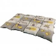 Decke Patchwork, 100 x 70cm, taupe/beige