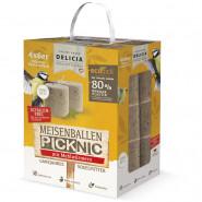 Delicia Meisenballen mit Mehlwürmern ohne Netz, 4x6er Pack