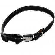 Heim Halsband Gurtband Magnet, 25/35-60cm, schwarz