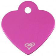 Herz Klein Pink mit Motiv Herz