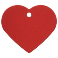 Herzchen Groß Rot