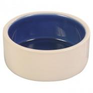 Keramiknapf, creme/blau