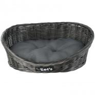 Let's Sleep Pet Bed, dark grey