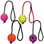 Neonball am Seil, Moosgummi, schwimmt, 6cm/30cm