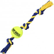 Petsport Giant 3-Knot Rope with Tuff Ball (10cm)