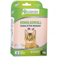 Vetlando Kokolaurin Zecken u. Floh-Halsband für Katzen