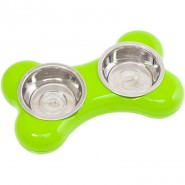 Hing The Bone Bowl Dog, green