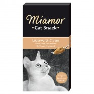 Miamor Cat-Snack Leberwurst-Cream 6x15g