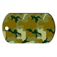 Military Groß Camouflage grün Horizontal