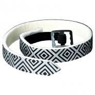 Floh-und Zeckenschutzband, silber/schwarz