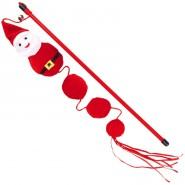 Xmas Katzenspielzeug Spielangel Santa, 40cm