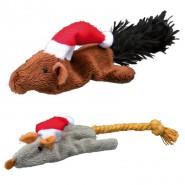 Xmas Katzenspielzeuge Maus und Eichhörnchen, 14-17 cm