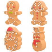 Xmas Lebkuchenfiguren, Latex, 11cm