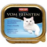 Ani. Cat v. Fein. Kastr. Katzen Pute & Forelle 100g