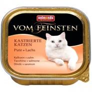 Ani. Cat v. Fein. Kastr. Katzen Pute & Lachs 100g