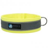Anny-x Steckhalsband Protect, leuchtgelb/grau