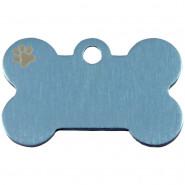 Knochen Klein Blau Pastell mit Motiv Pfote
