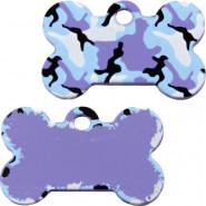 Knochen Klein Camouflage Blau