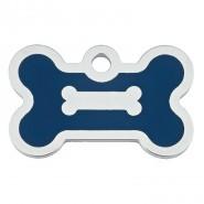 Knochen klein Epoxy Blau + Samtsäckchen