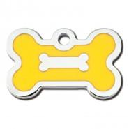 Knochen klein Epoxy Gelb + Samtsäckchen
