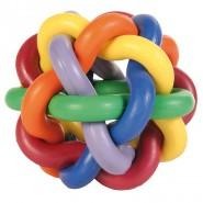 Knotenball, bunt, Naturgummi 10 cm