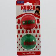 Kong Holiday Weihnachten Signature Balls 2 Stk. M ca. 6 cm