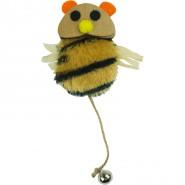 Crazy Cat Bee mit Catnip, ca. 15cm