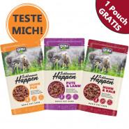 Grau Schlemmerhappen Gratis-Pouch für Katzen 125g