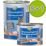 Grau Schlemmertöpfchen Forelle und Huhn mit Lachsöl