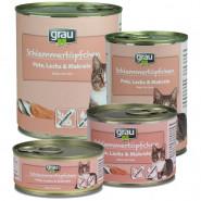 Grau Schlemmertöpfchen Pute, Lachs & Makrele