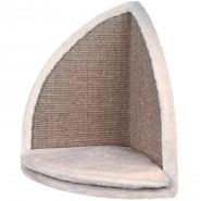 Kratzbrett für Zimmerecken, 35 x 50 x 35 cm, lichtgrau