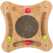 Kratzpappe mit Holzrahmen, 35x4x35 cm