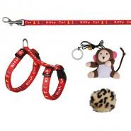 Kätzchen-Garnitur, 2 Spielzeuge, Nylon, 21-33 cm/8 mm