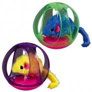 Steh-auf-Bälle mit Maus, Kunststoff/Plüsch, 6cm