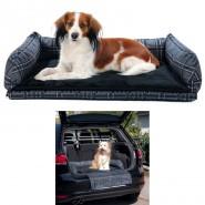 Autobett, 80 x 60 cm, grau/schwarz
